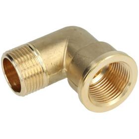 """Elbow 90° IT/ET 3/8"""" bright brass"""