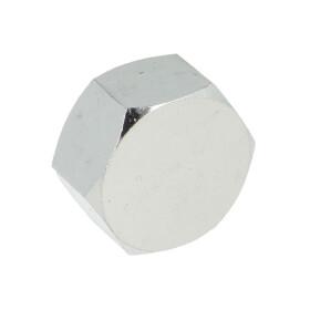 """Hexagon cap IT 3/8"""" chrome-plated brass"""