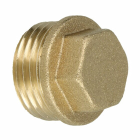 """Plug ET 1/2"""" with square brass bright"""