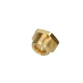 "Plug ET 1/2"" with hexagon brass bright"