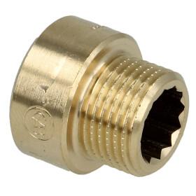 "Tap extension 3/8"" x 10 mm bright brass"