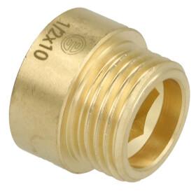 "Tap extension 1/2"" x 10 mm bright brass"