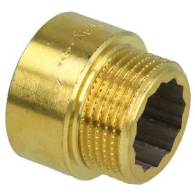 "Tap extension 1/2"" x 30 mm bright brass"