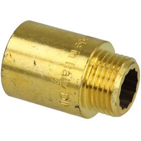 "Tap extension 1/2"" x 40 mm bright brass"