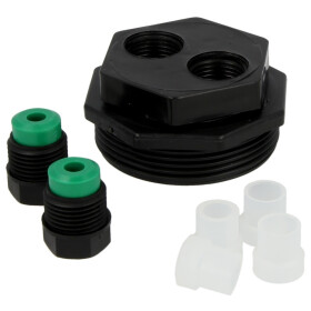 """Tank screw connection double 1 1/2"""" x 8/10/12 mm,..."""