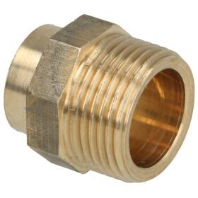 Soldered fitting gunmetal adapter nipple 10 mm x...
