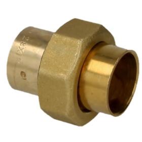 Soldered fitting gunmetal screw fitting 12 mm F/Fi - flat...