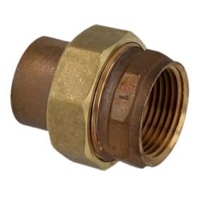 "Soldered fitting gunmetal screw fitting 15 mm x 1/2""..."