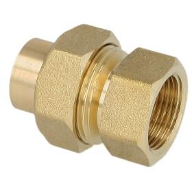 "Soldered fitting gunmetal screw fitting 12 mm x 3/8""..."