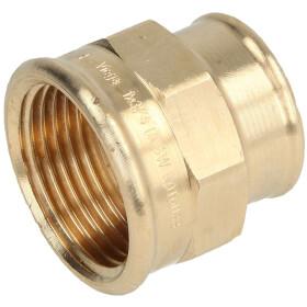 "Gunmetal threaded fitting reducing coupling 3/8"" x..."