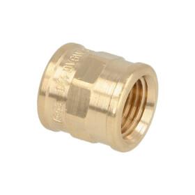 "Gunmetal threaded fitting coupling ¼"" IT"
