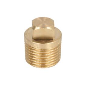 "Gunmetal threaded fitting plug 3/8"" ET"