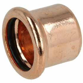 Press fitting copper cap 35 mm (contour M)