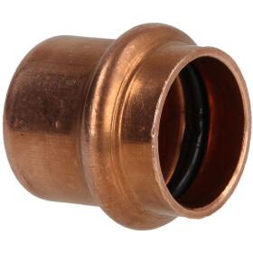 Pressfitting copper cap 12 mm contour V