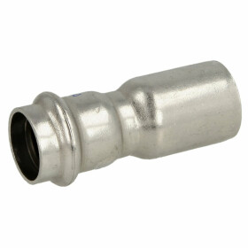 Stainless steel press fitting reducer 54 x 22 mm M/F with...