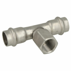 Stainl. steel press fitting T-piece outlet,22 mm...