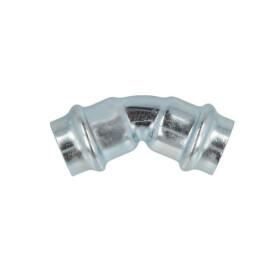 C-steel press fitting 45° elbow 15 mm I/I V profile