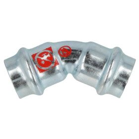 C-steel press fitting 45° elbow 42 mm I/I V profile