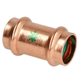 Press fitting solar coupling copper 15 mm F/F (V contour)