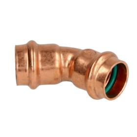 Press fitting solar bend 45° copper 15 mm F/F (V...
