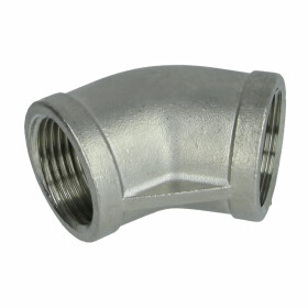 """Stainless steel screw fitting elbow 45° 3"""" IT/IT"""