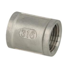 """Stainless steel screw fitting socket 1"""" IT/IT"""