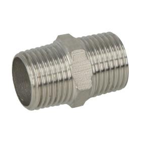 Stainless steel screw fitting hexagon nipple 3/4 ET/ET