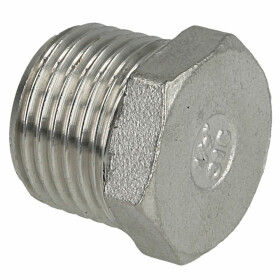 """Stainless steel screw fitting plug 1/2"""" ET"""