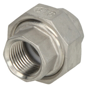 """Stainless steel screw fitting union flat seat, 3/4""""..."""