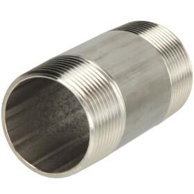 Edelstahl-Rohrdoppelnippel 100 mm 3/4 AG, konisches Gewinde