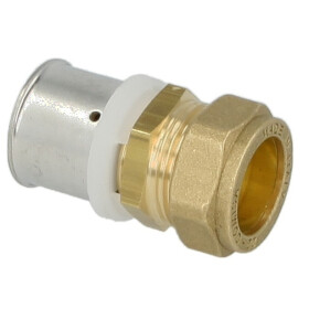 Adapter press fitting 16 mm on 15 mm compression fitting...