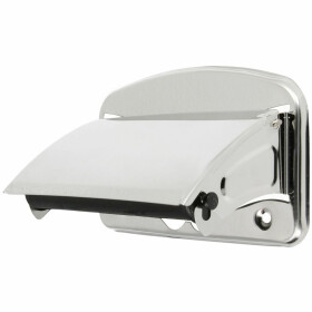 Paper holder stainless steel polished