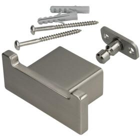 Emco Loft double hook S 0578 stainless steel look