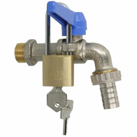 "Ball valve 1/2"", blue handle nickel-plated brass,..."