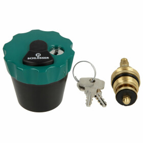 """Water safe head part 1/2"""" lockable, with 2 keys"""