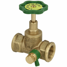 """Straight-seat valve 1/2"""" IT with drain and rising stem"""