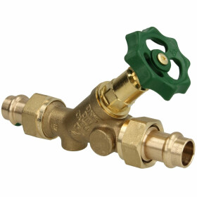 Free-flow valve, without drain press connection Viega 15 mm