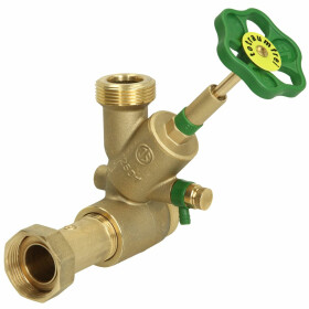 """Distribution T valve KFR with drain DN20 1"""" inlet x..."""