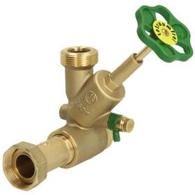 "Distribution T valve free flow DN 25 1 1/4"" inlet x..."