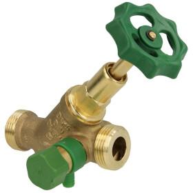 """Free-flow valve DN 15, with drain 3/4"""" ET x..."""