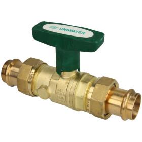 Ball valve DVGW DN40xViega press c. 42mm ISO-T-handle,...