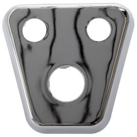 Three-hole cover, chrome-plated suitablef or Sanibox 3