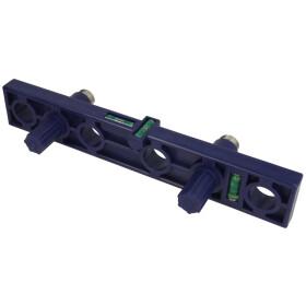Mounting spirit level for angle valves plastic