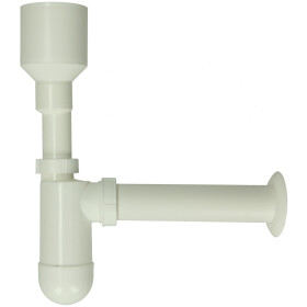 Urinal bottle siphon NW 40, white plastic