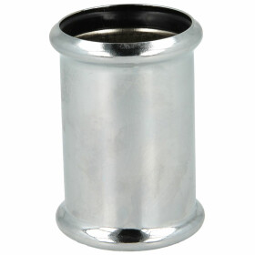 Siphon double sleeve with rounded rings 32 x 50 mm, chrome