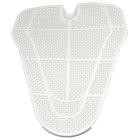 Universal urinal strainer white plastic, can be cut to shape