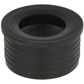 "Rubber W nipple 1 1/2"", black"