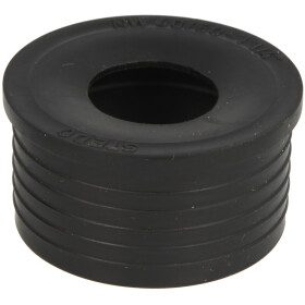 """HT rubber nipple 1 1/4"""" large black"""
