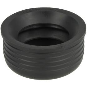 "HT rubber nipple 2"" black"