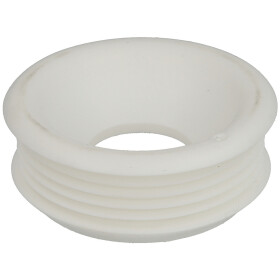 Rubber flush pipe connector without escutcheon